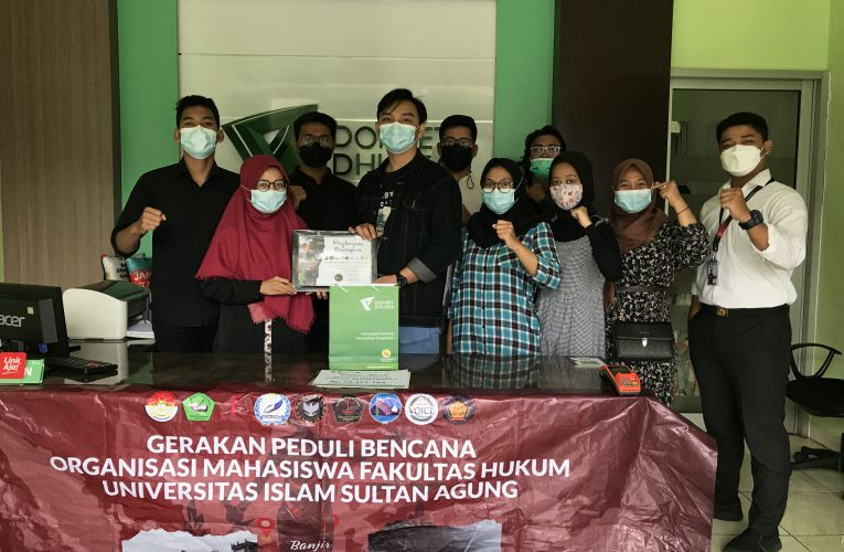 Penyerahan Dana Bantuan Gerakan Hukum Peduli kepada Dompet Dhuafa Jawa Tengah
